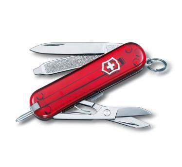 Victorinox švicarski žepni nož Signature, transparentno rdeč (0.6225.T)