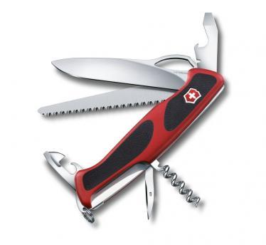Victorinox švicarski žepni nož RangerGrip 79, rdeč/črn (0.9563.MC)