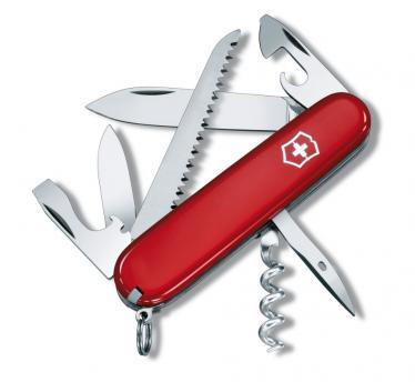 Victorinox švicarski žepni nož Camper, rdeč (1.3613)