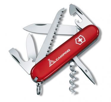 Victorinox švicarski žepni nož Camper, rdeč (1.3613.71)