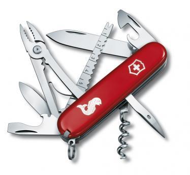 Victorinox švicarski žepni nož Angler, rdeč (1.3653.72)