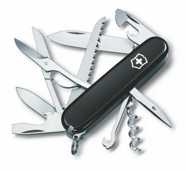 Victorinox švicarski žepni nož Huntsman, črn (1.3713.3)