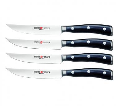 Wüsthof komplet nožev za steak classic ikon, črn (9716)