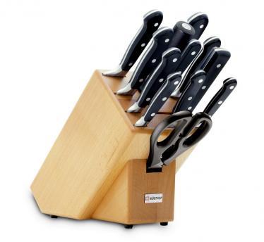 Wüsthof klada z 12 noži classic, črna (9846)