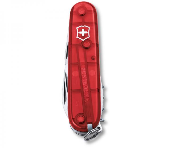 Victorinox švicarski žepni nož Spartan, transparentno rdeč (1.3603.T)