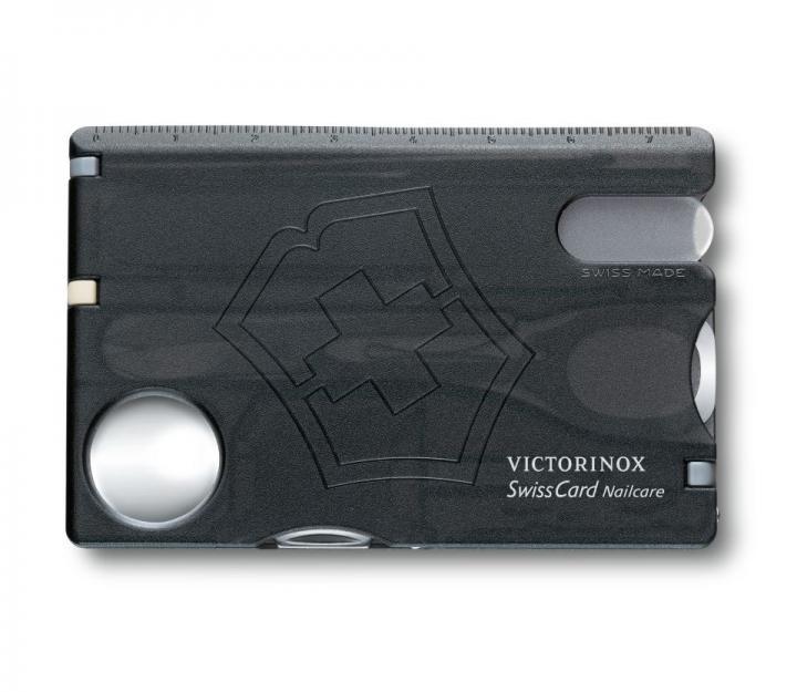 Victorinox SwissCard Nailcare, transparentno črn (0.7240.T3)
