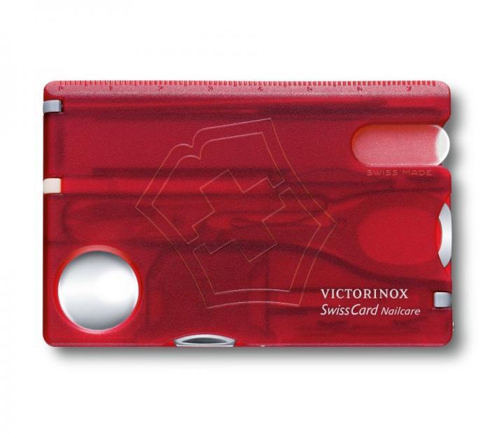 Victorinox SwissCard Nailcare, transparentno rdeč (0.7240.T)