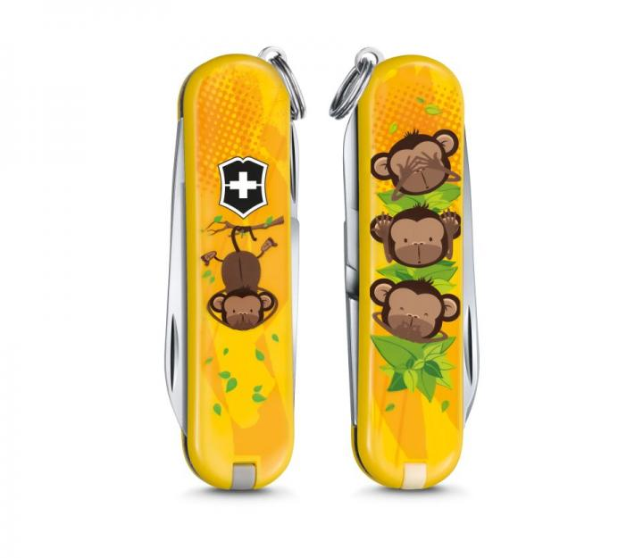 """Victorinox švicarski žepni nož Classic """"3 wise Monkeys"""" (0.6223.L1607)"""