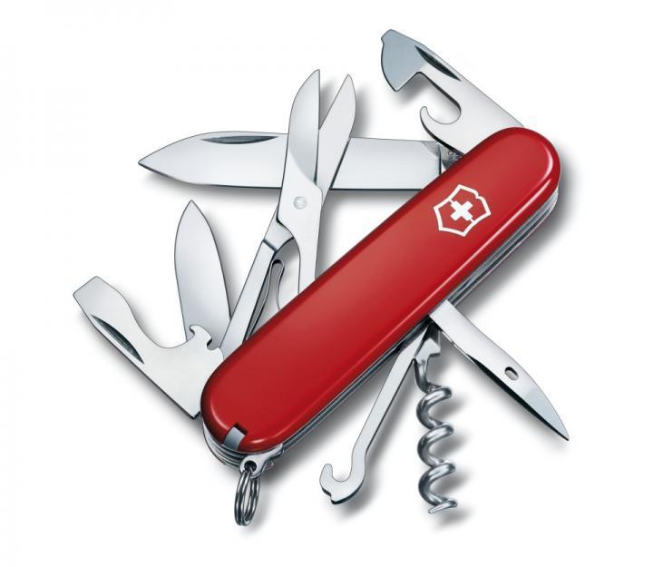 Victorinox švicarski žepni nož Climber, rdeč (1.3703)