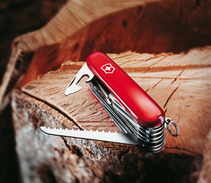 Victorinox švicarski žepni nož SwissChamp, rdeč (1.6795)